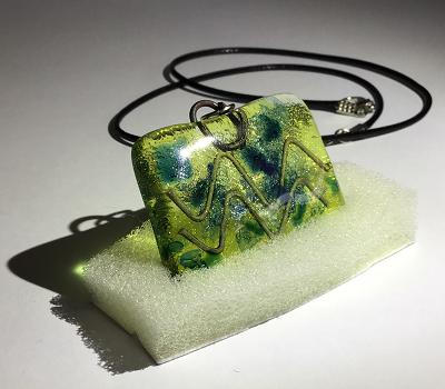 Glass necklace - Aquarius