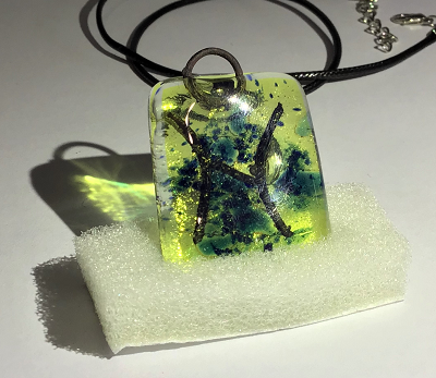 Glass necklace - Pisces
