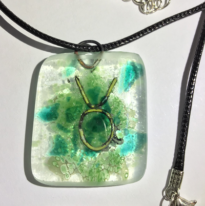 Glass necklace - Taurus
